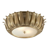 Visual Comfort AH4000NB-FG Alexa Hampton Audrey 2 Light 16 inch Natural Brass Flush Mount Ceiling Light