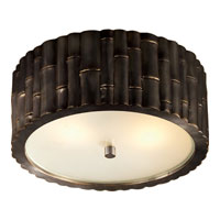 Visual Comfort Alexa Hampton Frank 2 Light Flush Mount in Gun Metal with Wax AH4004GM-FG