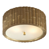 Alexa Hampton Frank 2 Light 11 inch Natural Brass Flush Mount Ceiling Light
