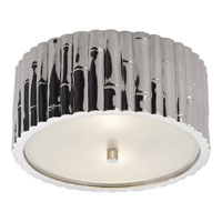 Visual Comfort Alexa Hampton Frank 2 Light Flush Mount in Polished Nickel AH4004PN-FG