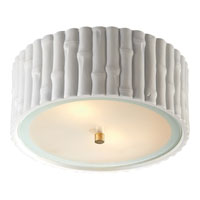 Visual Comfort Alexa Hampton Frank 2 Light Flush Mount in Plaster White AH4004WHT-FG