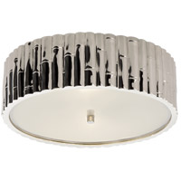 Alexa Hampton Frank 3 Light 15 inch Polished Nickel Flush Mount Ceiling Light