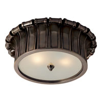 Visual Comfort Alexa Hampton Vivien 2 Light Flush Mount in Gun Metal with Wax AH4010GM-FG
