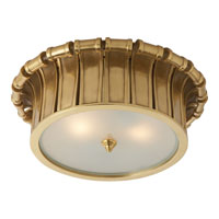 Visual Comfort Alexa Hampton Vivien 2 Light Flush Mount in Natural Brass AH4010NB-FG