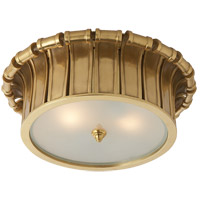 Visual Comfort AH4010NB-FG Alexa Hampton Vivien 2 Light 13 inch Natural Brass Flush Mount Ceiling Light