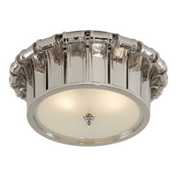 Visual Comfort Alexa Hampton Vivien 2 Light Flush Mount in Polished Nickel AH4010PN-FG