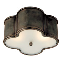 Visual Comfort Alexa Hampton Basil  Basil 2 Light Flush Mount in Gun Metal with Wax AH4014GM-FG