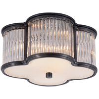 Alexa Hampton Basil 2 Light 11 inch Gun Metal Flush Mount Ceiling Light in Clear Glass
