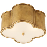 Visual Comfort AH4014NB-FG Alexa Hampton Basil 2 Light 11 inch Natural Brass Flush Mount Ceiling Light in (None)