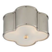 Visual Comfort Alexa Hampton Basil 2 Light Flush Mount in Polished Nickel AH4014PN-FG