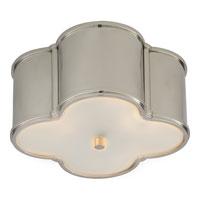 Visual Comfort AH4014PN-FG Alexa Hampton Basil 2 Light 11 inch Polished Nickel Flush Mount Ceiling Light in (None)