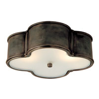 Visual Comfort Alexa Hampton Basil 3 Light Flush Mount in Gun Metal with Wax AH4015GM