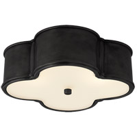 Alexa Hampton Basil 3 Light 17 inch Gun Metal Flush Mount Ceiling Light