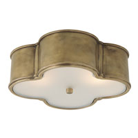 Visual Comfort Alexa Hampton Basil 3 Light Flush Mount in Natural Brass AH4015NB-FG