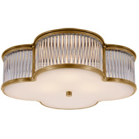 Alexa Hampton Basil 3 Light 17 inch Natural Brass with Clear Glass Flush Mount Ceiling Light