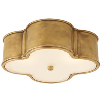 Visual Comfort AH4015NB-FG Alexa Hampton Basil 3 Light 17 inch Natural Brass Flush Mount Ceiling Light in (None)