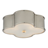 Visual Comfort Alexa Hampton Basil 3 Light Flush Mount in Polished Nickel AH4015PN