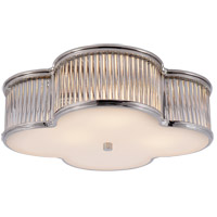 Visual Comfort Alexa Hampton Basil 3 Light Flush Mount in Polished Nickel with Clear Glass with Frosted Glass Shade AH4015PN/CG-FG