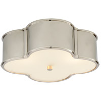 Alexa Hampton Basil 3 Light 17 inch Polished Nickel Flush Mount Ceiling Light