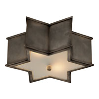 Visual Comfort Alexa Hampton Sophia 2 Light Flush Mount in Gun Metal with Wax AH4016GM-FG