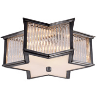 Alexa Hampton Sophia 2 Light 14 inch Gun Metal Flush Mount Ceiling Light in Clear Glass