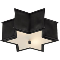 Visual Comfort AH4016GM-FG Alexa Hampton Sophia 2 Light 14 inch Gun Metal Flush Mount Ceiling Light