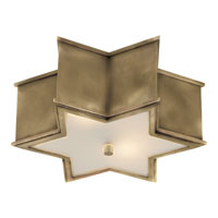 Visual Comfort AH4016NB-FG Alexa Hampton Sophia 2 Light 14 inch Natural Brass Flush Mount Ceiling Light in (None)