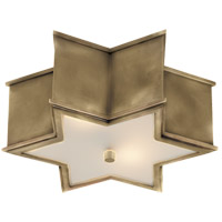 Alexa Hampton Sophia 2 Light 14 inch Natural Brass Flush Mount Ceiling Light