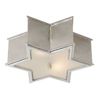 Visual Comfort Alexa Hampton Sophia 2 Light Flush Mount in Polished Nickel AH4016PN-FG