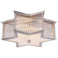 Visual Comfort Alexa Hampton Sophia 2 Light Flush Mount in Polished Nickel with Clear Glass with Frosted Glass Shade AH4016PN/CG-FG