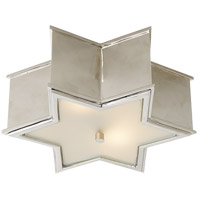 Alexa Hampton Sophia 2 Light 14 inch Polished Nickel Flush Mount Ceiling Light