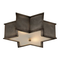 Visual Comfort Alexa Hampton Sophia 3 Light Flush Mount in Gun Metal with Wax AH4017GM