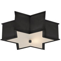 Visual Comfort AH4017GM-FG Alexa Hampton Sophia 3 Light 17 inch Gun Metal Flush Mount Ceiling Light