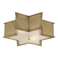 Visual Comfort AH4017NB-FG Alexa Hampton Sophia 3 Light 17 inch Natural Brass Flush Mount Ceiling Light in (None)
