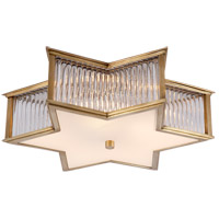 Alexa Hampton Sophia 3 Light 17 inch Natural Brass with Clear Glass Flush Mount Ceiling Light