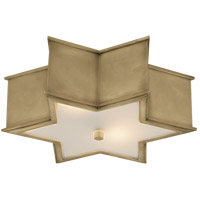 Visual Comfort AH4017NB-FG Alexa Hampton Sophia 3 Light 17 inch Natural Brass Flush Mount Ceiling Light