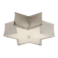 Visual Comfort Alexa Hampton Sophia 3 Light Flush Mount in Polished Nickel AH4017PN