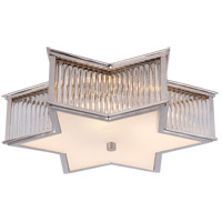 Alexa Hampton Sophia 3 Light 17 inch Polished Nickel with Clear Glass Flush Mount Ceiling Light