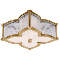 Visual Comfort Alexa Hampton Lana 2 Light Flush Mount in Natural Brass with Clear Glass with Frosted Glass Shade AH4018NB/CG-FG