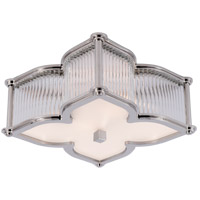 Visual Comfort Alexa Hampton Lana 2 Light Flush Mount in Polished Nickel with Clear Glass with Frosted Glass Shade AH4018PN/CG-FG