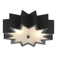 Alexa Hampton Odette 3 Light 15 inch Gun Metal with Wax Flush Mount Ceiling Light