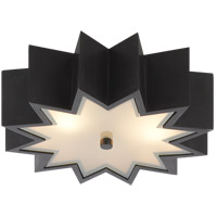 Visual Comfort AH4020GM-FG Alexa Hampton Odette 3 Light 15 inch Gun Metal Flush Mount Ceiling Light