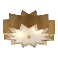 Alexa Hampton Odette 3 Light 15 inch Natural Brass Flush Mount Ceiling Light