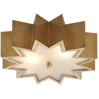 Visual Comfort AH4020NB-FG Alexa Hampton Odette 2 Light 15 inch Natural Brass Flush Mount Ceiling Light