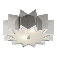 Visual Comfort Alexa Hampton Odette 3 Light Flush Mount in Polished Nickel AH4020PN-FG