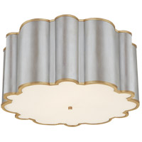 Visual Comfort AH4021BSL/G-FA Alexa Hampton Markos 4 Light 26 inch Burnished Silver Leaf with Gild Flush Mount Ceiling Light in Burnished Silver Leaf and Gild, Grande