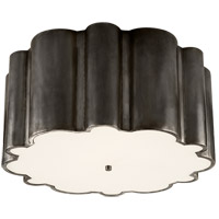Alexa Hampton Markos 4 Light 26 inch Gun Metal Flush Mount Ceiling Light in Frosted Acrylic