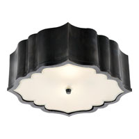 Alexa Hampton Balthazar 3 Light 14 inch Gun Metal with Wax Flush Mount Ceiling Light