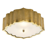 Visual Comfort Alexa Hampton Balthazar 3 Light Flush Mount in Natural Brass AH4025NB-FG