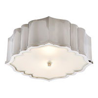 Visual Comfort Alexa Hampton Balthazar 3 Light Flush Mount in Polished Nickel AH4025PN-FG